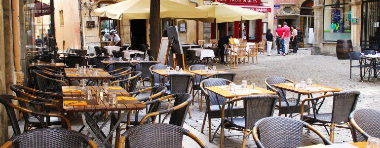 restaurant Restaurant Terrasse rue piétonne Lyon