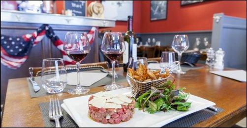 Restaurant La viande fondante de la Franklin's steakhouse lyon