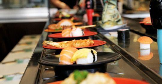 Restaurant Ludique et pratique le tapis roulant du Sushimasa lyon