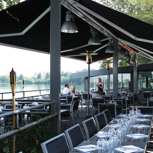 logo restaurant Au bord de l eau >à Decines-Charpieu