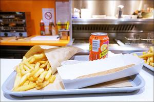 3 frites fricadelle plat restaurant bintje zoet friterie belge lyon Bintje & Zoet