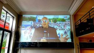 00001 retransmissions foot brasserie la patrie ecran geant Brasserie La Patrie