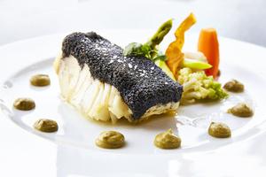 07 Cafe Restaurant 136 Avenue plat poisson dressage ardoise Café Restaurant 136 Avenue