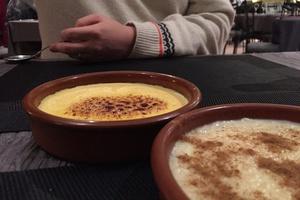 4 creme catalane plat dessert restaurant bintje zoet friterie belge lyon Cantabria