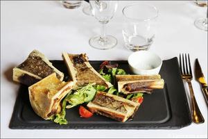 2 entree os a moelle plat restaurant lyon carre saone selection Carré Saône
