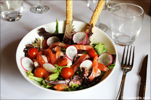 4 salade restaurant lyon carre saone selection Carré Saône