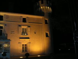Facade+Tour nuit  Château de Montchat