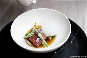 4 entree brouillon plat restaurant eskis lyon cuisine moleculaire Eskis