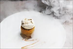 6 dessert fumee meringue azote plat restaurant eskis lyon cuisine moleculaire Eskis