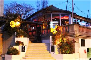 1 devanture facade entree restaurant bar dansant festif f and k bistroclub lyon F&K Bistroclub