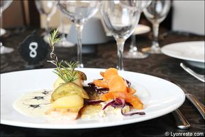 04 plat poisson fabrice moya restaurant lyon gastronomique Fabrice Moya