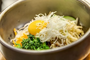 002 Gang Nam restaurant coreen japonais Lyon 2 plat bibimbap Gang Nam