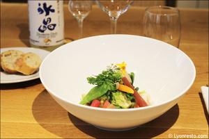 002 entreee legumes plat restaurant lyon imouto Imouto