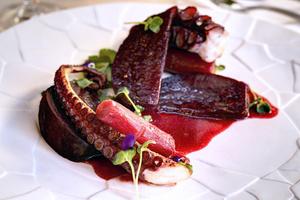 004 Imouto restaurant fusion Lyon Guillotiere plat poulpe Imouto