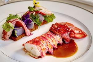 006 Imouto restaurant fusion Lyon Guillotiere plat queue langouste Imouto