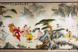 91 fresque restaurant lyon chinois jardin du bambou Jardin du Bambou