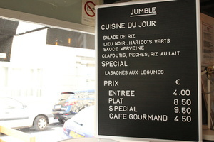006 Jumble Restaurant Lyon Guillotiere menu  Jumble