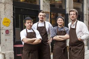 001 Atelier des Augustins restaurant Lyon bistronomie equipe L'Atelier des Augustins