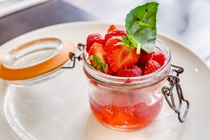 0962 dessert fraise authentique steakhouse restaurant lyon L'Authentique Steakhouse