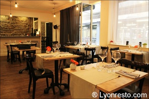 02 salle resto restaurant effervescence lyon bistronomique etoile michelin L'Effervescence