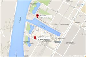 00 map restaurant brasserie l endroit confluence  L'Endroit Confluence