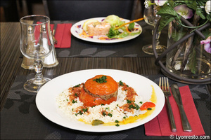 004 plat tomate farcie riz restaurant essentiel lyon L'Essentiel