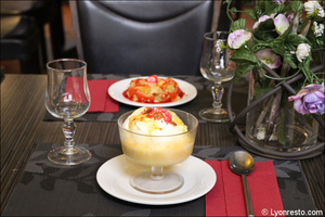 005 dessert ile flottante restaurant essentiel lyon L'Essentiel