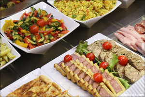 06 buffet entrees froides harmonie des saveurs restaurant lyon L'harmonie des saveurs