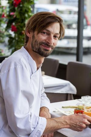 004 Luc Vinot chef cuisine La Brunoise Lyon Restaurant portrait La Brunoise