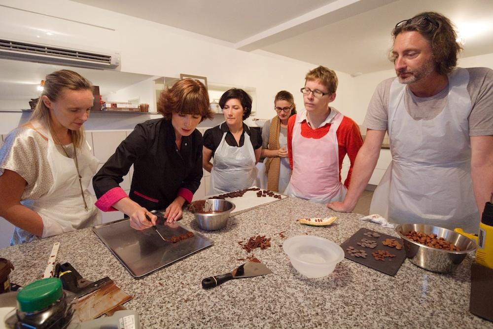 atelier selection chocolat La Maison de Karen Chocolat