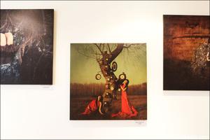 5 tableaux murs deco expo restaurant roumain la mama s i lyon La Mama S&I