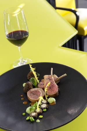 4 plat agneau restaurant gastronomique la pyramide vienne La Pyramide - Vienne