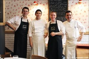 5 portrait equipe restaurant bouchon lyonnais sully lyon Le Bouchon Sully