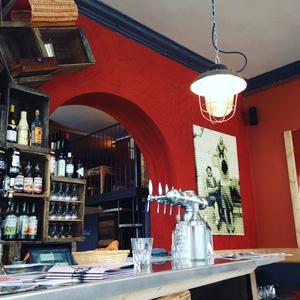 001 Le Bouillon Paradis restaurant Lyon Guillotiere bar selection  Le Bouillon Paradis