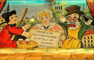 00 fresque restaurant bouchon lyon caveau des gourmands Le caveau des gourmands