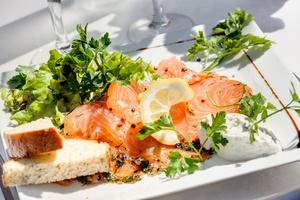 006 Cintra restaurant Lyon brasserie chic entree saumon fume Le Cintra