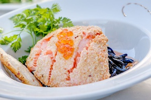 010 Cintra restaurant bar Lyon Cordeliers plat saumon frais mi cuit Le Cintra