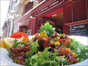 21 Le Comptoir Lyonnais Plat Salade  Le Comptoir Lyonnais