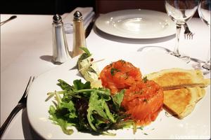 2 entree saumon restaurant le gabion lyon Le Gabion