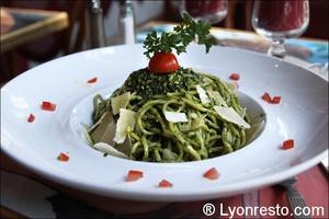1 spaghetti al pesto monna lisa restaurant lyon Le Monna Lisa