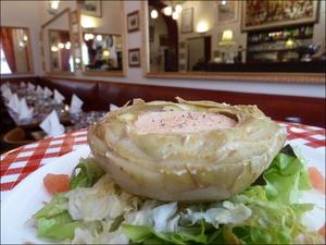 2 artichaut foie gras restaurant lyon bouchon poelon d or selection Le Poêlon d'Or