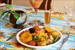 5 assiette beignets plat restaurant des iles cuisine exotique lyon selection Le restaurant des iles