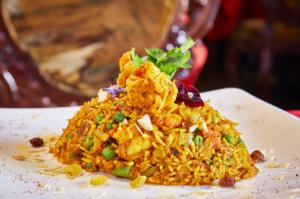 05 le royal indien plat riz fleur crevette Le Royal Indien