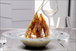 3 plat risotto gambas restaurant temps un repas lyon Le temps d'un repas