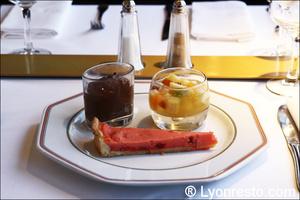 7 dessert lyon trolley des lumieres selection Le Trolley des Lumières