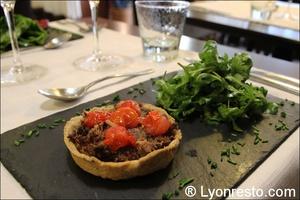 tarte verre assiette restaurant lyon Le Verre et l'assiette