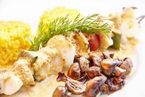 10 Les Allumes des Monts d Or plat poisson champignon riz Les Allumés des Monts d'Or