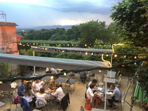 0001 les jardins de saint didier terrasse soir restaurant Lyonresto  Les jardins de Saint Didier