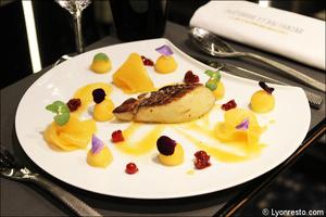 005 Plethore et Balthazar restaurant Lyon rue merciere entree foie gras Pléthore et Balthazar