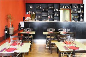 01 salle comptoir tables restaurant italien sapori e colori lyon Sapori e Colori